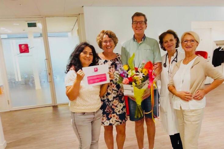 """Gift Stichting """"Kanker en dan.."""" voor vingerkoeling en leefstijlbegeleiding"""