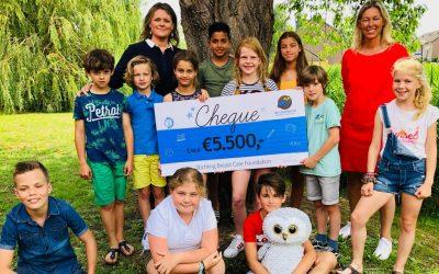 Geweldig resultaat sponsorloop door Justin en basisschool De Uijlenbrink in Veghel